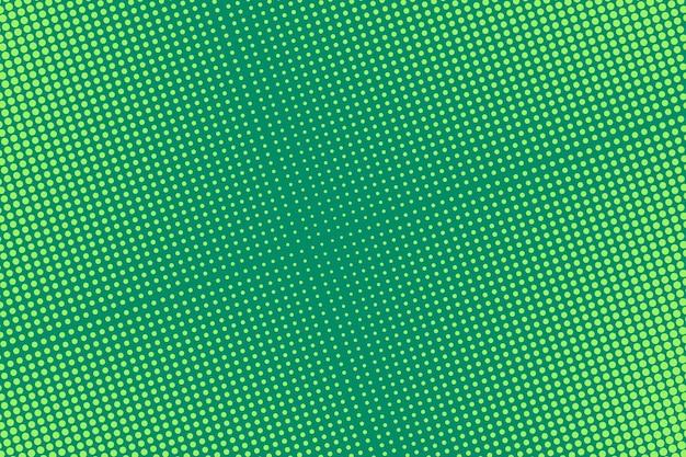 하프 톤이있는 팝 아트. 만화 점선 배경. 녹색 하프 톤 인쇄. 삽화.