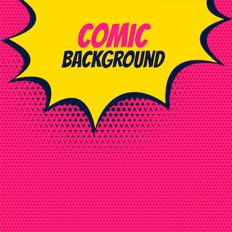 Pop comic pink background
