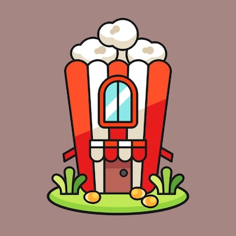 Поп-кукуруза дом иллюстрация