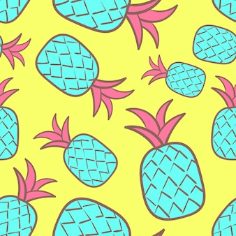 Pop culture pineapple seamless Pattern