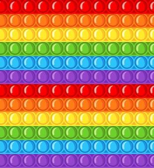 Антистрессовая сенсорная игрушка pop it fidget seamless pattern в плоском стиле.