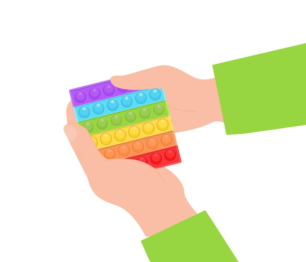 Поп-это новая популярная детская силиконовая красочная игрушка, руки, играющая с сенсорной игрушкой-антистрессом, непоседой