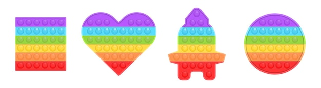 Pop it new popular childrens toy colorful antistress sensory toy fidget push pop it simple dimple
