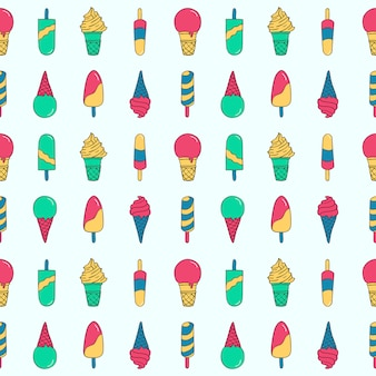 Pop pattern ice cream and popsicle