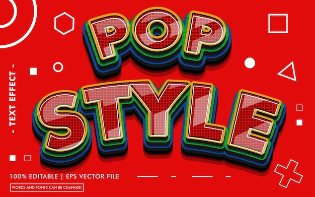 Pop style text effect style