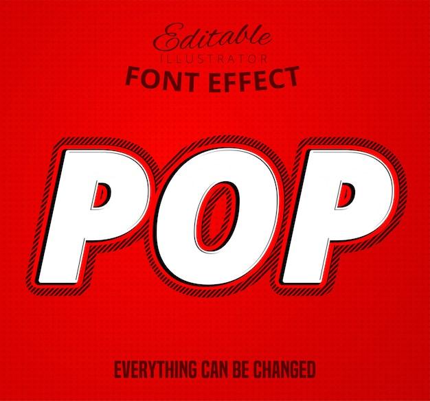 Pop text, editable font effect