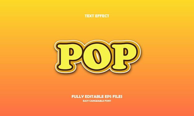 Pop text effect design template