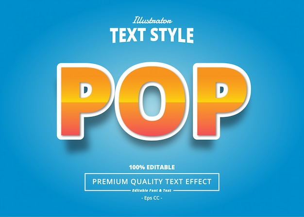 Pop text effect