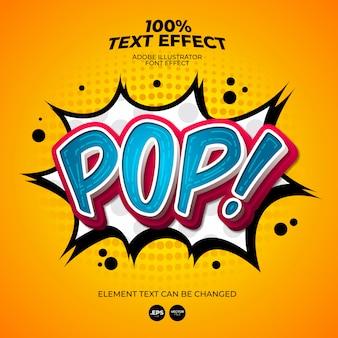Pop text effect