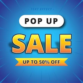 Pop up sale banner text effect