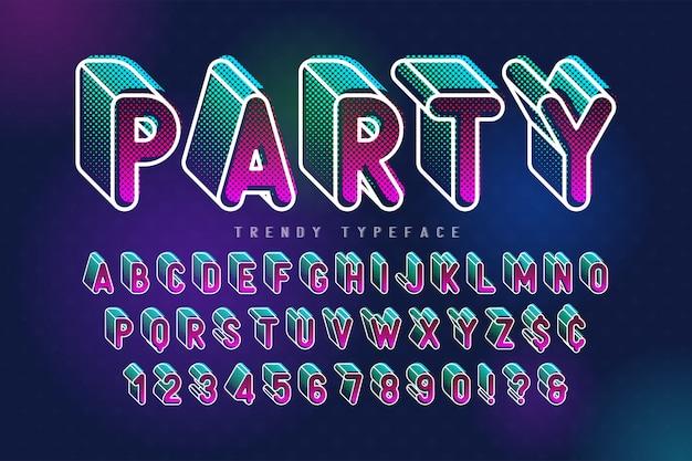 Сжатый дисплейный шрифт popart design