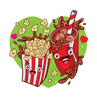 Popcorn and coke
