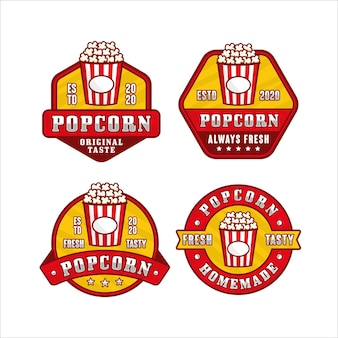 Popcorn design premium logo collection