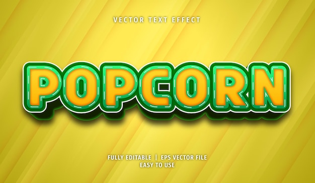 Popcorn editable text effect style