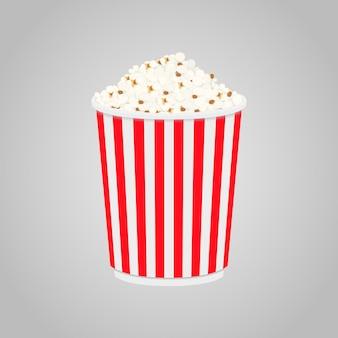映画館、映画館のボックスにポップコーン
