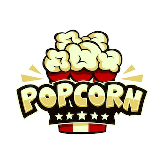 Popcorn logo colorful