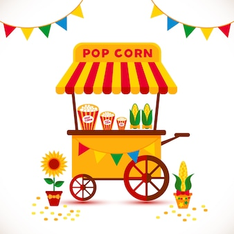 Popcorn shop illustration