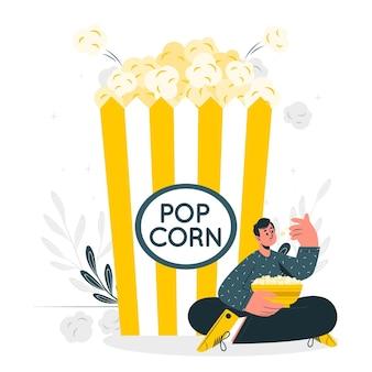 Иллюстрация концепции попкорна