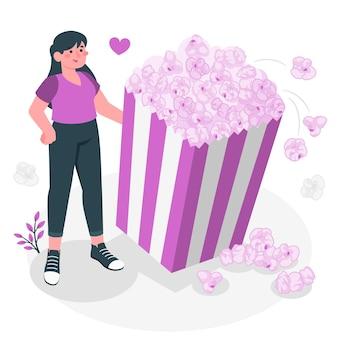 Illustrazione del concetto di popcorn