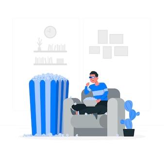 Popcorns concept illustration