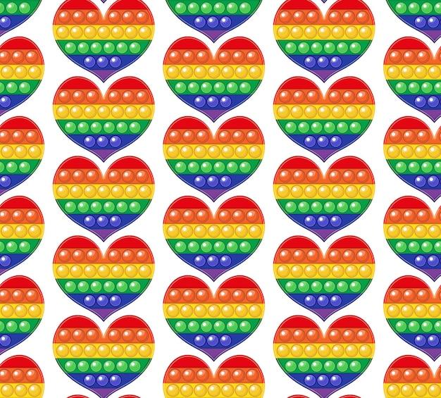 Popit красочная радуга бесшовные модели непоседа сенсорная игрушка-антистресс поп ее бесконечная текстура для печати фона.