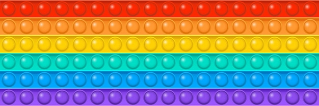 ポピットベクトルおもちゃシームレスパターンレインボープッシュバブル感覚ゲームそわそわ背景