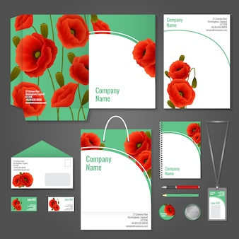Poppy corporate identity