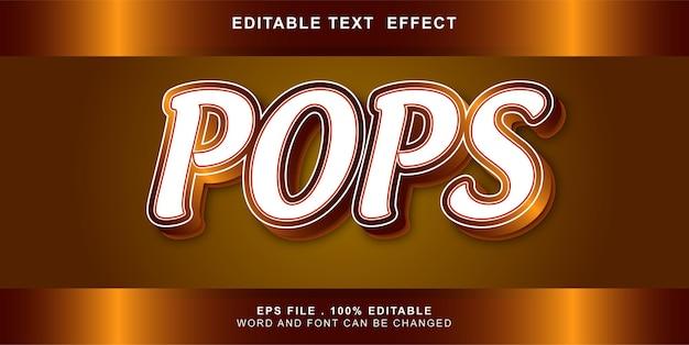 Pops  text effect editable