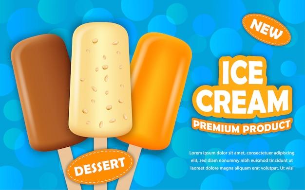 Popsicle ice cream concept