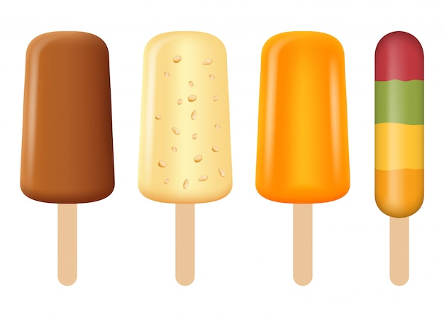 Popsicle icon set