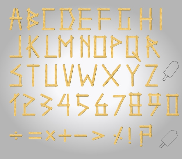 아이스 대문자 알파벳