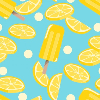 Popsicles ice-cream seamless pattern.