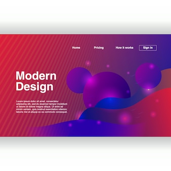 Popular abstract geometric design of landing page