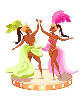 Popular brazil carnival event advertising poster element