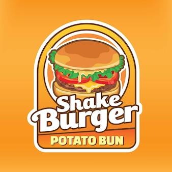 Popular burger logo design