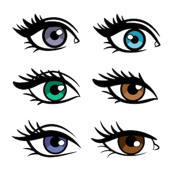 Popular colors female eyes