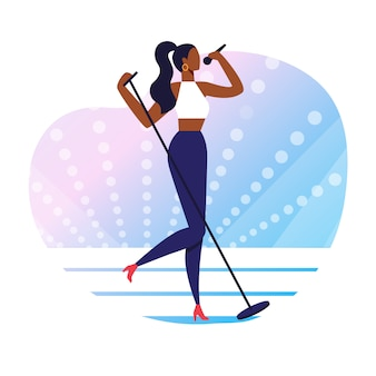 Popular singer performance  illustration