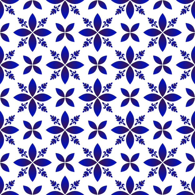 Porcelain abstract flowers pattern