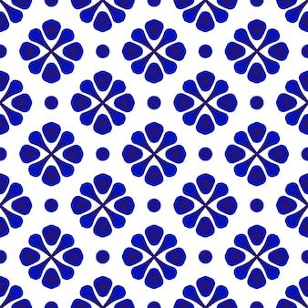 Porcelain flower seamless pattern