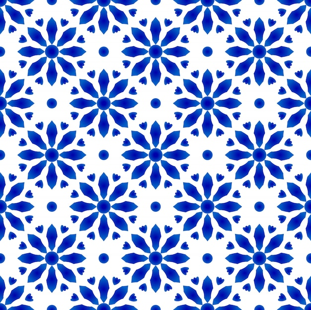 Porcelain indigo pattern