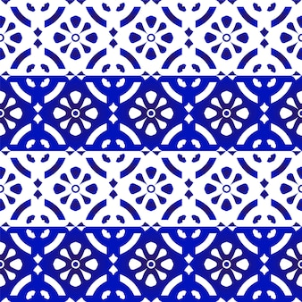 Porcelain pattern blue and white