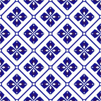 Porcelain pattern ceramic seamless decor blue and white modern background design