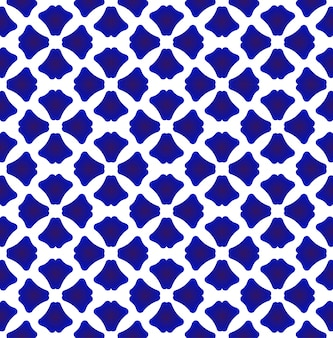 Porcelain pattern chinese and japan style, blue and white geometric pattern