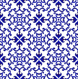 Porcelain pattern chinese style vector
