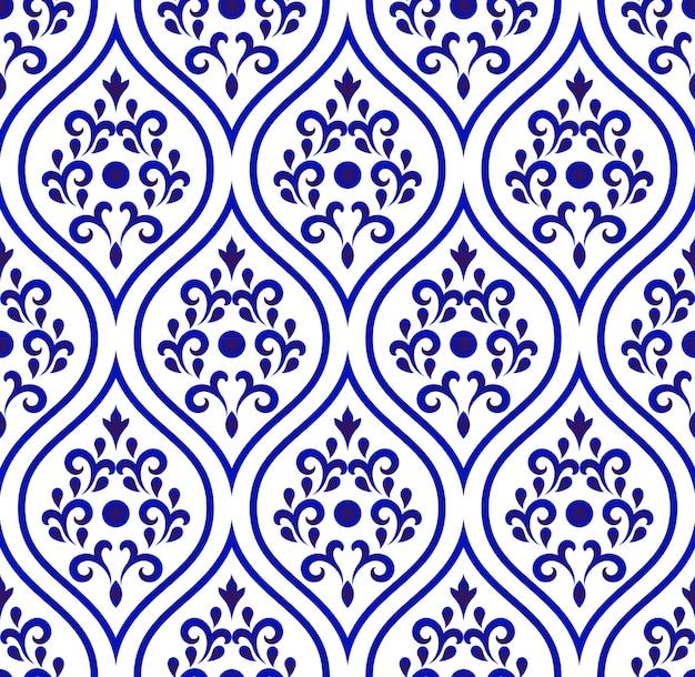 Porcelain pattern seamless desing