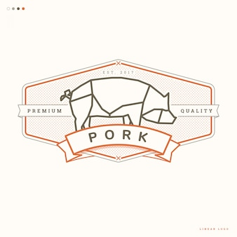 Pork linear logo
