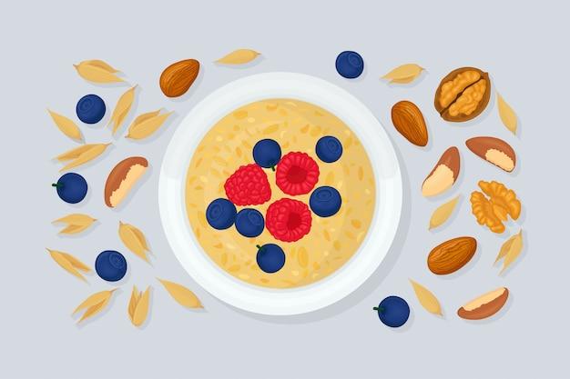 Porridge oats in bowl