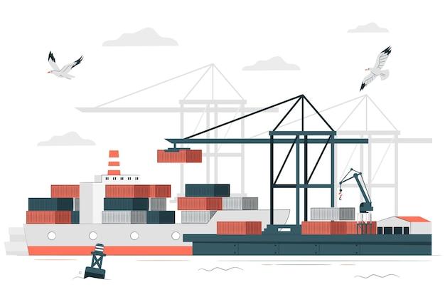 Иллюстрация концепции порта