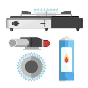 실린더 용 휴대용 가스 버너 노즐.