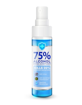 Portable hand sanitizer spray for spraying to kill germs viruses bacteria
